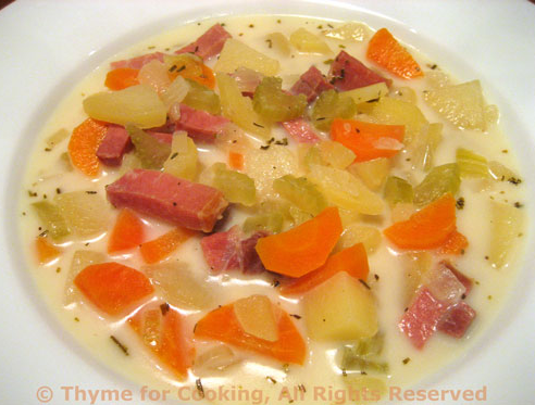 Potato soup, from Thyme for Cooking (on Soup Chick).