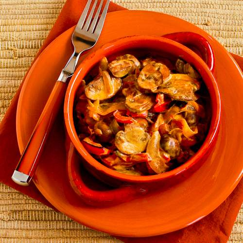 Vegetarian mushroom stew for Meatless Monday, from Kalyn's Kitchen.