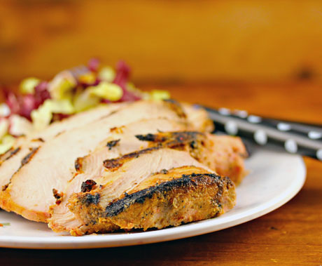 Zanzibar tandoori grilled turkey breast, on The Perfect Pantry.