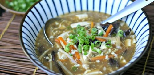 Vegetarian hot and sour soup, from Everyday Maven (on Soup Chick). Perfect for Meatless Monday.