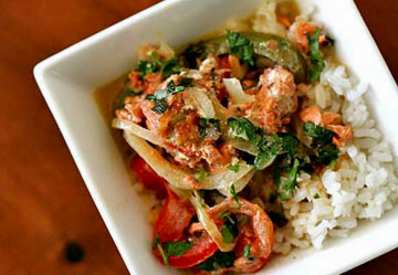 Salmon fish stew, Brazilian style, from Simply Recipes (on Soup Chick).