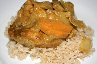 CrockPot Indian curry from A Year of Slow Cooking (on Soup Chick).