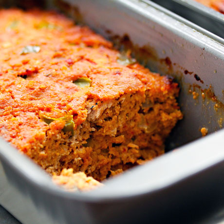 You don't have to be a cowboy to love this cowboy turkey meatloaf! Ketchup and BBQ sauce flavor right inside.