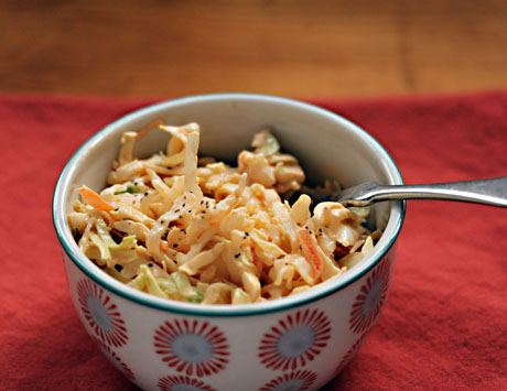 Smoky spicy cole slaw, on The Perfect Pantry.