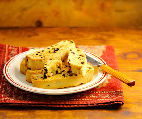 Lemon-currant-johnnycake-biscotti-with-butter