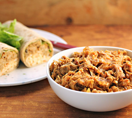 Slow-cooker-coffee-chipotle-pulled-chicken