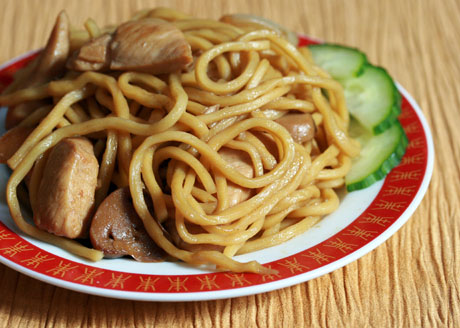 Chicken lo-mein noodles (The Perfect Pantry).