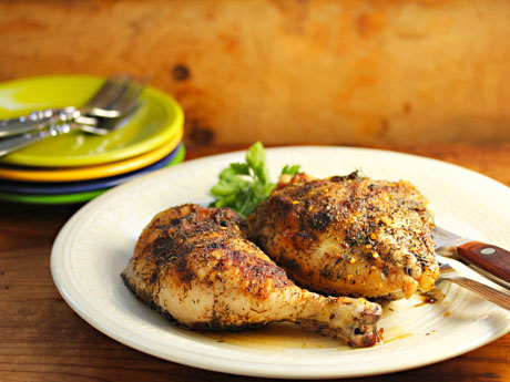 Roasted pepper chicken, good hot or cold.