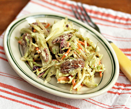 Curried-apple-and-pecan-broccoli-slaw