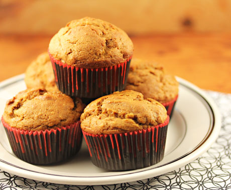 Squash walnut wheat muffins, a touch of sweet for your holiday menu, from The Perfect Pantry.