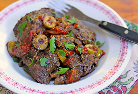 Slow cooker Italian pot roast, from The Perfect Pantry.