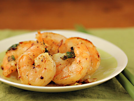 Salt and pepper prawns, a Szechuan classic appetizer, on The Perfect Pantry.