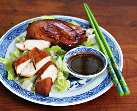 Penang-style baked chicken tastes great hot or cold. Picnic, anyone?