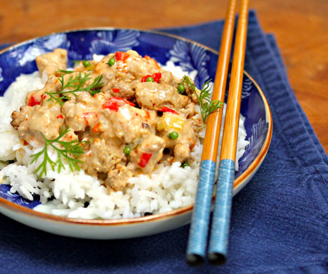 Slow cooker Thai red curry turkey is another adaptation from a stove-top favorite.