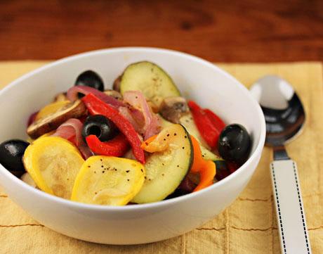 Vinegar veggies, a simple yet dramatically beautiful side dish.