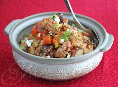 CrockPot Asian chicken stew from Jeanette's Healthy Living (on Soup Chick).