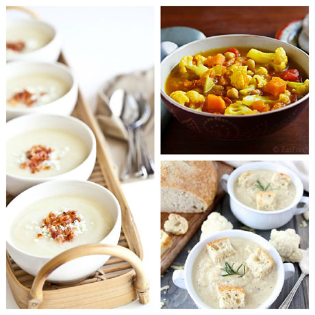 Three favorite cauliflower soups, on Soup Chick.