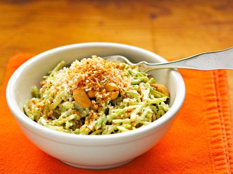 Curried broccoli slaw salad.