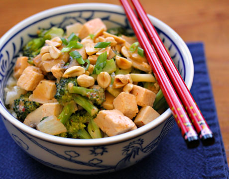 Thai red curry tofu and broccoli, on The Perfect Pantry.