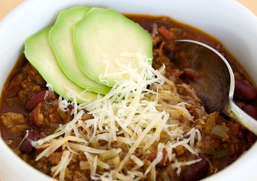 Chocolate stout chili, from Use Real Butter (on Soup Chick).