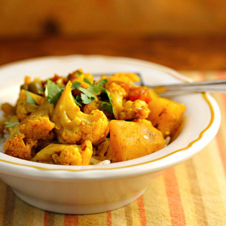 ... gobi (spiced cauliflower and potatoes) made easy in the slow cooker