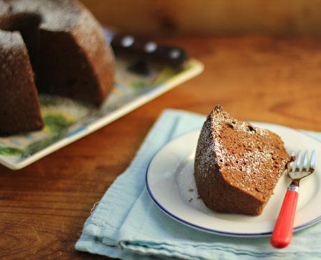Chocolate sour ccream cake.