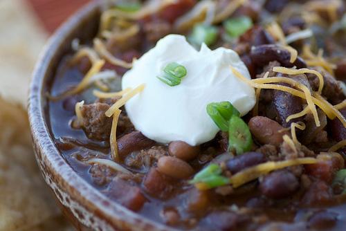 Boozy beef chili, from Food Blogga.