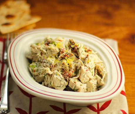 Greek-inspired chicken salad, with lemon and dill.