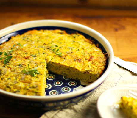 Zucchini pie/The Perfect Pantry.