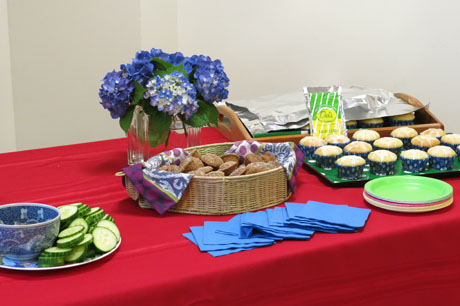 Harmony-book-signing-food-table