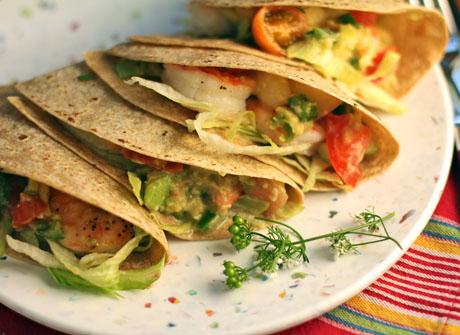 Roasted shrimp tacos.
