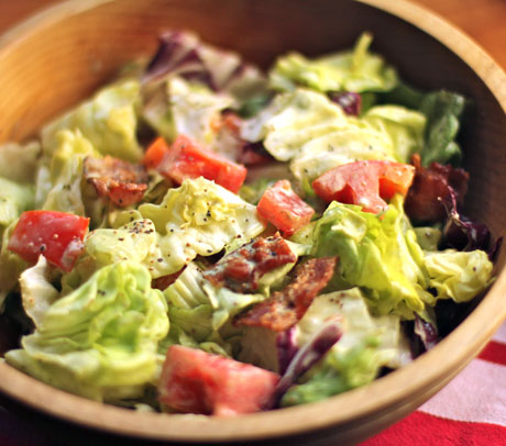 Bacon, lettuce and tomato salad.