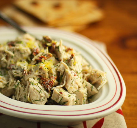 Add olives, if you love them, to this Greek chicken salad.