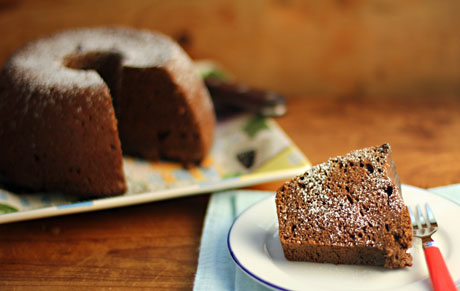 Chocolate sour cream cake, from The Perfect Pantry.