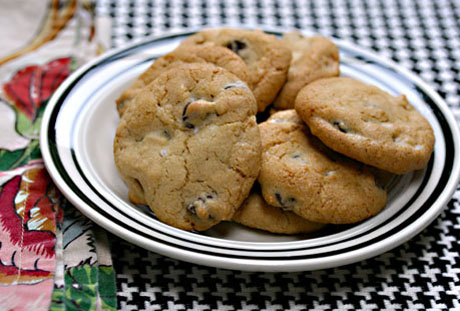 Sweet and salty peanut chocolate chunk cookies.