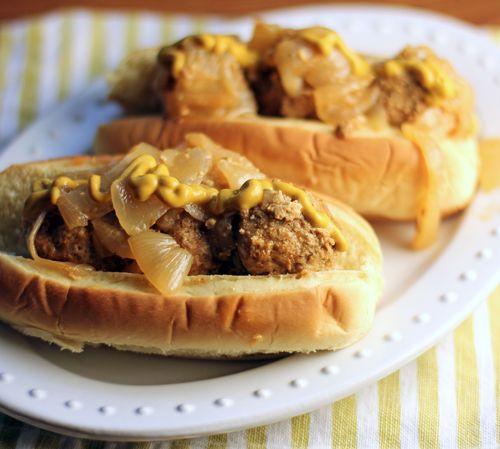 Rhode Island weiner spice meatball sandwich.