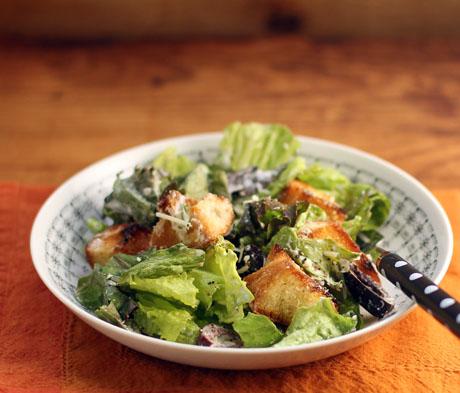 Vegetarian Caesar salad.
