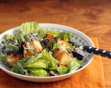 Vegetarian Caesar salad, from The Perfect Pantry.