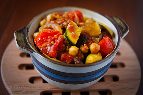 Tunisian vegetable ragout with couscous, from FatFree Vegan Kitchen.