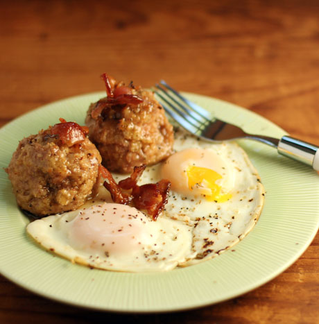 Turkey meatballs with bacon, maple and beer.