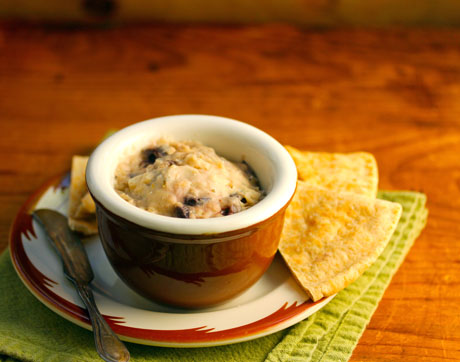 Slow cooker white bean dip, perfect for entertaining.