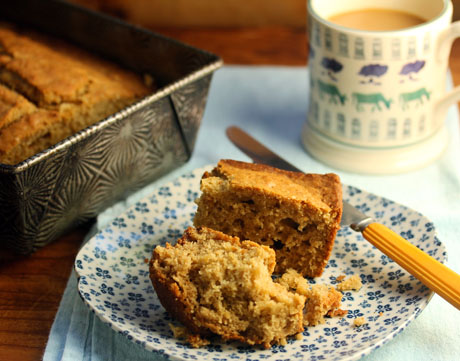 Pear spice cake with cardamom and ginger.