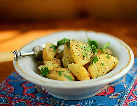 French potato salad (dairy-free).