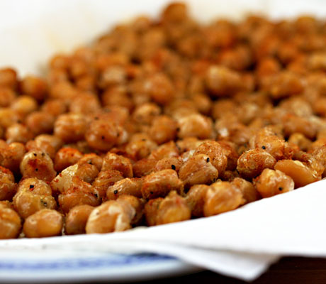 Roasted chickpeas with garlic, cumin and paprika (The Perfect Pantry).