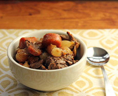 Honey Sriracha beef stew (slow cooker), from The Perfect Pantry.