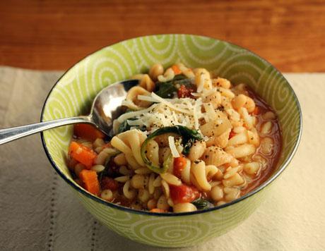 Classic pasta e fagiole soup.