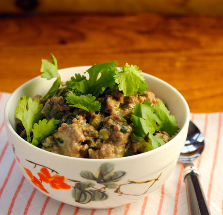 Thai green curry turkey rice bowl (The Perfect Pantry).