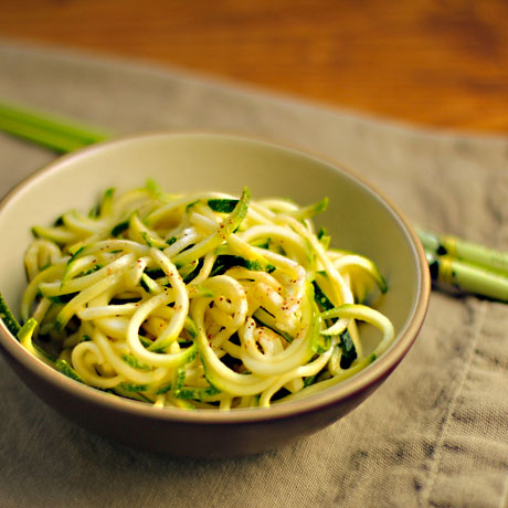 Zucchini ribbon salad (The Perfect Pantry).