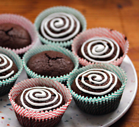 Brownie cupcakes (The Perfect Pantry).