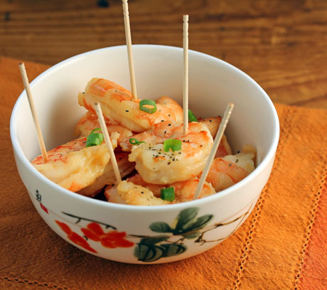 Roasted shrimp in beer marinade.